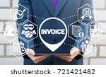 payment and billing invoices... | Shutterstock . vector #721421482
