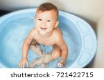 happy child boy swims in the... | Shutterstock . vector #721422715