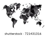low poly map of world. made of... | Shutterstock .eps vector #721431316