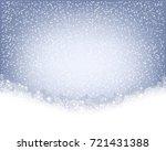 winter background. wave border... | Shutterstock .eps vector #721431388