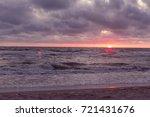sunset on the beach. baltik sea  | Shutterstock . vector #721431676