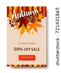 autumn sale text banners for... | Shutterstock .eps vector #721431865