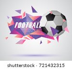 abstract crystal 3d faceted... | Shutterstock .eps vector #721432315