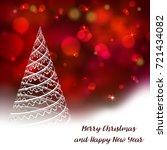 vector stylized christmas tree... | Shutterstock .eps vector #721434082