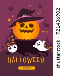 halloween illustration | Shutterstock .eps vector #721436902