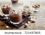 chocolate mousse topped with... | Shutterstock . vector #721437805