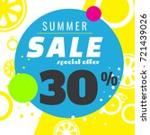summer sale template banner ... | Shutterstock .eps vector #721439026