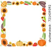 Square Colored Frame Of Autumn...