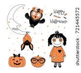 hand drawn vector illustration... | Shutterstock .eps vector #721445572