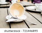 coffee cup with coffee stains... | Shutterstock . vector #721446895