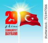 29 ekim cumhuriyet bayrami ...   Shutterstock .eps vector #721447066