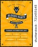 halloween celebrations. vintage ...   Shutterstock .eps vector #721455145