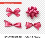 bows pink realistic design.... | Shutterstock .eps vector #721457632
