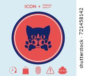 cute cat  paws   logo  symbol ... | Shutterstock .eps vector #721458142