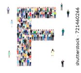 letter f group of people ... | Shutterstock .eps vector #721460266