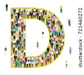 letter d  group of people ... | Shutterstock .eps vector #721460272