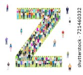 letter z  group of people ... | Shutterstock .eps vector #721460332