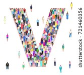 letter v  group of people ... | Shutterstock .eps vector #721460356