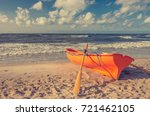 Lifeguard Boat On Baltic Coast  ...