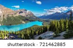 panoramic view of turquoise... | Shutterstock . vector #721462885