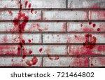 bloody handprints and blotches... | Shutterstock . vector #721464802