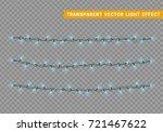 lights string garlands color... | Shutterstock .eps vector #721467622