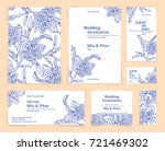 beautiful painted blue set of... | Shutterstock .eps vector #721469302