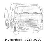 dump truck. vector rendering of ... | Shutterstock .eps vector #721469806