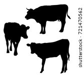 vector silhouettes of cows ... | Shutterstock .eps vector #721470562