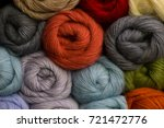 knitting needles  colorful... | Shutterstock . vector #721472776