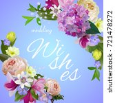 wedding wishes  greeting card ... | Shutterstock .eps vector #721478272