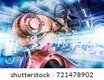 industrial robot | Shutterstock . vector #721478902
