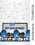 app development  concept with...