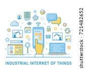 industrial internet of things.... | Shutterstock .eps vector #721482652