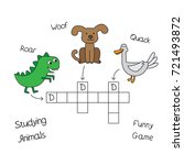 funny animals crossword for... | Shutterstock .eps vector #721493872