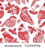 red and white seamless... | Shutterstock .eps vector #721493956