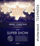 merry christmas poster template ...   Shutterstock .eps vector #721496026