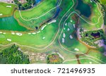 aerial view golf course | Shutterstock . vector #721496935