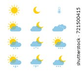 set of weather icons for web or ... | Shutterstock .eps vector #721500415