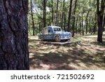 car sculpture in abandoned... | Shutterstock . vector #721502692