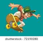 cartoon happy boy on a... | Shutterstock .eps vector #72150280