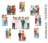 gathered family for holidays... | Shutterstock . vector #721504972