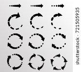 set of vector circular arrows.... | Shutterstock .eps vector #721505935