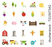 farming and agriculture flat...   Shutterstock .eps vector #721507342