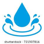 water drop vector icon | Shutterstock .eps vector #721507816