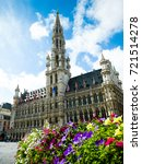 brussels grand square  brussels ... | Shutterstock . vector #721514278