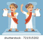 roman greek  cartoon character... | Shutterstock .eps vector #721515202