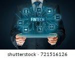 fintech  financial technology ... | Shutterstock . vector #721516126