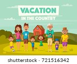family's vacation in the... | Shutterstock .eps vector #721516342