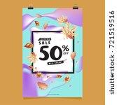 vector autumn sale poster... | Shutterstock .eps vector #721519516